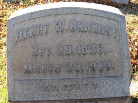 UNANGST, PVT. HENRY W. - Lehigh County, Pennsylvania | PVT. HENRY W. UNANGST - Pennsylvania Gravestone Photos