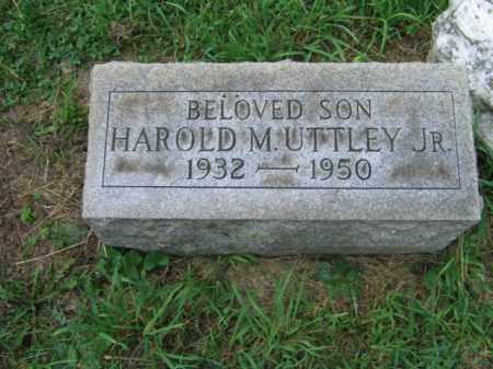 UTTLEY,JR., HAROLD M. - Lehigh County, Pennsylvania   HAROLD M. UTTLEY,JR. - Pennsylvania Gravestone Photos