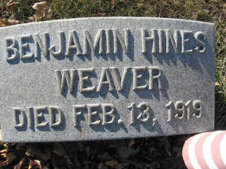 WEAVER, BENJAMIN HINES - Lehigh County, Pennsylvania | BENJAMIN HINES WEAVER - Pennsylvania Gravestone Photos