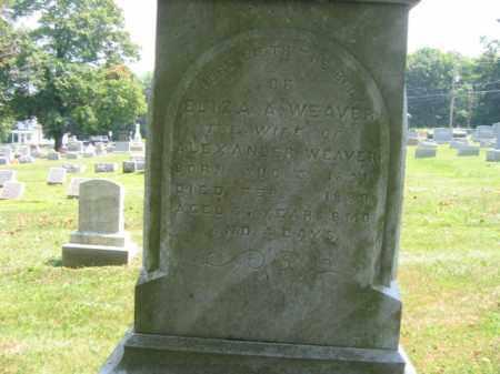 WEAVER, ELIZA - Lehigh County, Pennsylvania | ELIZA WEAVER - Pennsylvania Gravestone Photos