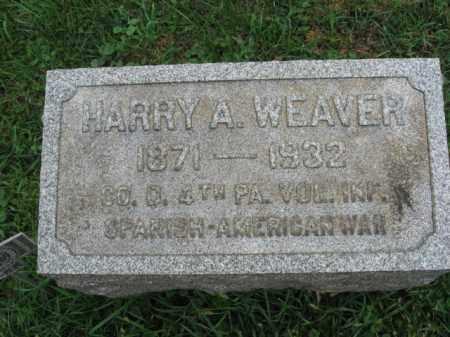 WEAVER, HARRY A. - Lehigh County, Pennsylvania   HARRY A. WEAVER - Pennsylvania Gravestone Photos