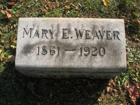 WEAVER, MARY E. - Lehigh County, Pennsylvania   MARY E. WEAVER - Pennsylvania Gravestone Photos