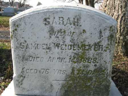 WEIDERMEYER, SARAH - Lehigh County, Pennsylvania | SARAH WEIDERMEYER - Pennsylvania Gravestone Photos