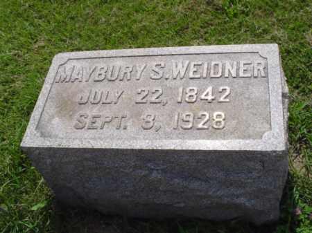 WEIDNER, PVT. MAYBURY S. - Lehigh County, Pennsylvania | PVT. MAYBURY S. WEIDNER - Pennsylvania Gravestone Photos