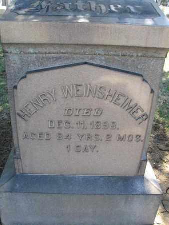 WEINSHEIMER (CW), HENRY - Lehigh County, Pennsylvania   HENRY WEINSHEIMER (CW) - Pennsylvania Gravestone Photos