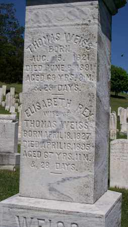 WEISS, ELISABETH - Lehigh County, Pennsylvania | ELISABETH WEISS - Pennsylvania Gravestone Photos