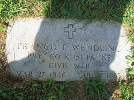 WENDLING  (CW), PVT.FRANCIS P. - Lehigh County, Pennsylvania | PVT.FRANCIS P. WENDLING  (CW) - Pennsylvania Gravestone Photos