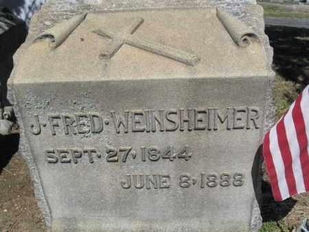 WENSHEIMER (CW), J. FREDERICK - Lehigh County, Pennsylvania | J. FREDERICK WENSHEIMER (CW) - Pennsylvania Gravestone Photos
