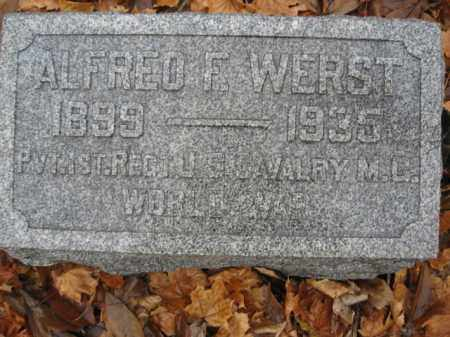 WERST, ALFERD F - Lehigh County, Pennsylvania | ALFERD F WERST - Pennsylvania Gravestone Photos