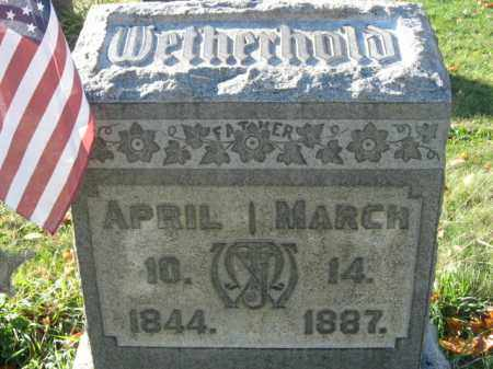 WETHERHOLD, MILTON - Lehigh County, Pennsylvania | MILTON WETHERHOLD - Pennsylvania Gravestone Photos