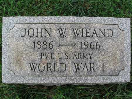 WIEAND, JOHN W. - Lehigh County, Pennsylvania | JOHN W. WIEAND - Pennsylvania Gravestone Photos