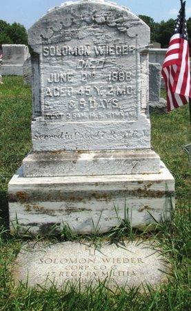 WIEDER (CW), SOLOMON - Lehigh County, Pennsylvania   SOLOMON WIEDER (CW) - Pennsylvania Gravestone Photos
