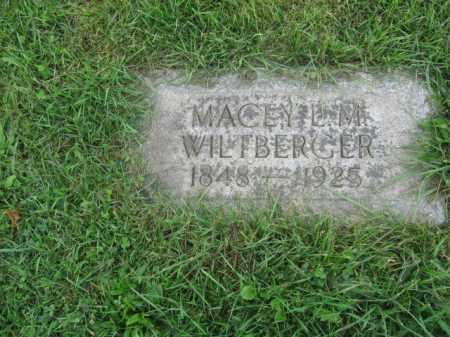 WILTBERGER, MACEY L.M. - Lehigh County, Pennsylvania   MACEY L.M. WILTBERGER - Pennsylvania Gravestone Photos