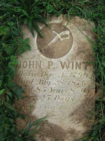 WINT, JOHN P. - Lehigh County, Pennsylvania   JOHN P. WINT - Pennsylvania Gravestone Photos