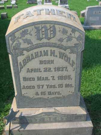 WOLF, ABRAHAM N. - Lehigh County, Pennsylvania   ABRAHAM N. WOLF - Pennsylvania Gravestone Photos