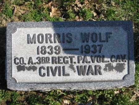 WOLF (CW), MORRIS - Lehigh County, Pennsylvania   MORRIS WOLF (CW) - Pennsylvania Gravestone Photos