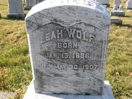 WOLF, LEAH - Lehigh County, Pennsylvania | LEAH WOLF - Pennsylvania Gravestone Photos