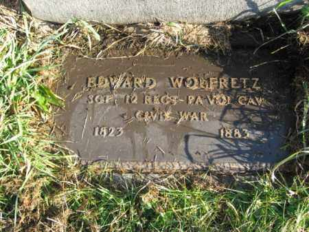 WOLFRETZ, SGT. EDWARD - Lehigh County, Pennsylvania | SGT. EDWARD WOLFRETZ - Pennsylvania Gravestone Photos