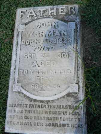 WORMAN, JOHN - Lehigh County, Pennsylvania | JOHN WORMAN - Pennsylvania Gravestone Photos