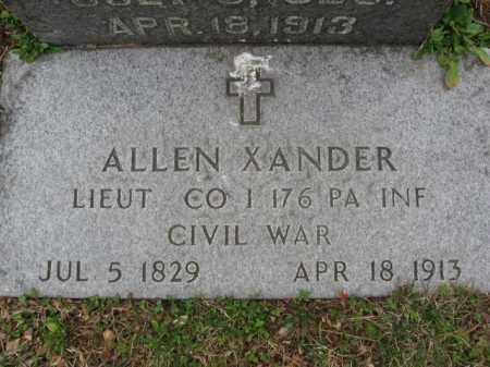 XANDER (CW), LIEUT. ALLEN - Lehigh County, Pennsylvania   LIEUT. ALLEN XANDER (CW) - Pennsylvania Gravestone Photos