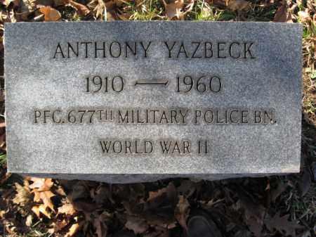 YAZBECK, ANTHONY - Lehigh County, Pennsylvania | ANTHONY YAZBECK - Pennsylvania Gravestone Photos