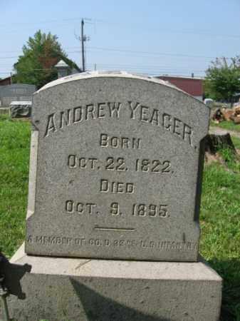 YEAGER, ANDREW - Lehigh County, Pennsylvania | ANDREW YEAGER - Pennsylvania Gravestone Photos