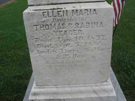 YEAGER, ELLEN MARIA - Lehigh County, Pennsylvania   ELLEN MARIA YEAGER - Pennsylvania Gravestone Photos