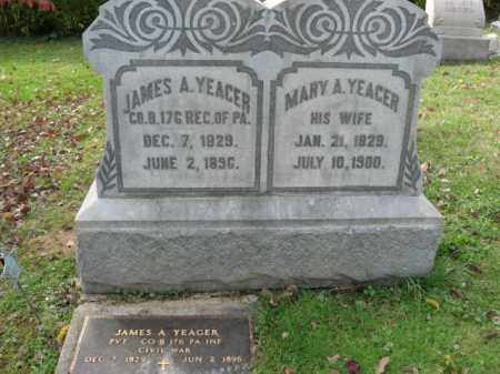 YEAGER, PVT. JAMES A. - Lehigh County, Pennsylvania   PVT. JAMES A. YEAGER - Pennsylvania Gravestone Photos