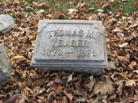 YEAGER, THOMAS M. - Lehigh County, Pennsylvania | THOMAS M. YEAGER - Pennsylvania Gravestone Photos