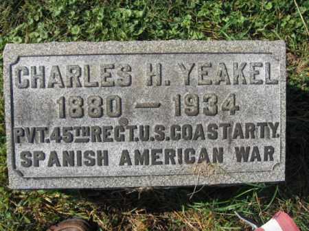 YEAKEL, CHARLES H. - Lehigh County, Pennsylvania | CHARLES H. YEAKEL - Pennsylvania Gravestone Photos