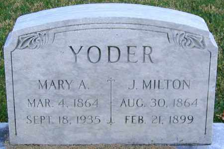 YODER, MARY A. - Lehigh County, Pennsylvania | MARY A. YODER - Pennsylvania Gravestone Photos