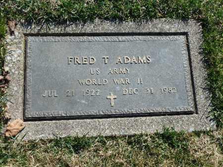 ADAMS (WW II), FRED  T. - Luzerne County, Pennsylvania   FRED  T. ADAMS (WW II) - Pennsylvania Gravestone Photos