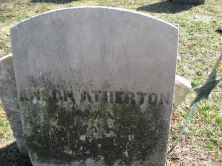 ATHERTON, ANSON - Luzerne County, Pennsylvania | ANSON ATHERTON - Pennsylvania Gravestone Photos