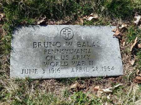 BALAS (WW II), BRUNO W. - Luzerne County, Pennsylvania | BRUNO W. BALAS (WW II) - Pennsylvania Gravestone Photos