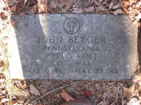 BERGER   (CW), JOHN - Luzerne County, Pennsylvania | JOHN BERGER   (CW) - Pennsylvania Gravestone Photos
