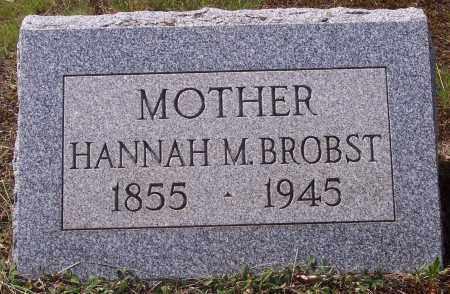 BROBST, HANNAH M. - Luzerne County, Pennsylvania   HANNAH M. BROBST - Pennsylvania Gravestone Photos