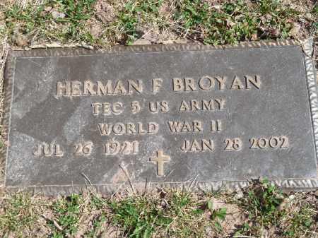 BROYAN (WW I), HERMAN  F - Luzerne County, Pennsylvania | HERMAN  F BROYAN (WW I) - Pennsylvania Gravestone Photos
