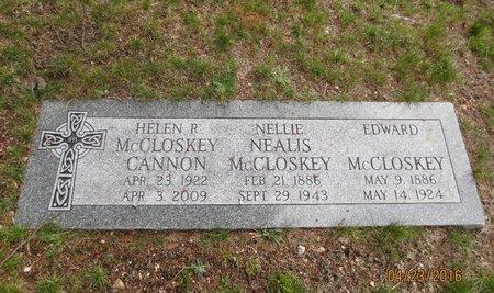 MCCLOSKEY CANNON, HELEN R - Luzerne County, Pennsylvania | HELEN R MCCLOSKEY CANNON - Pennsylvania Gravestone Photos