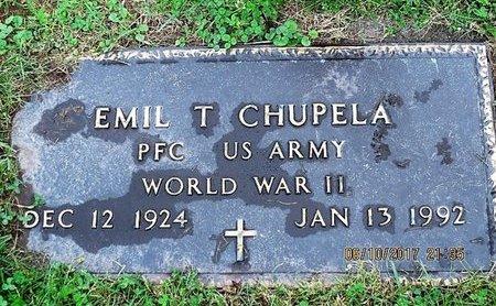 CHUPELA, EMIL T - Luzerne County, Pennsylvania | EMIL T CHUPELA - Pennsylvania Gravestone Photos