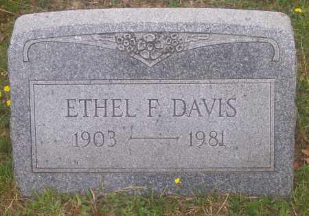 DAVIS, ETHEL F. - Luzerne County, Pennsylvania | ETHEL F. DAVIS - Pennsylvania Gravestone Photos