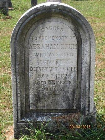 DRUM, ABRAHAM - Luzerne County, Pennsylvania | ABRAHAM DRUM - Pennsylvania Gravestone Photos