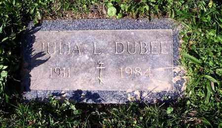 DUBEE, JULIA .L - Luzerne County, Pennsylvania   JULIA .L DUBEE - Pennsylvania Gravestone Photos