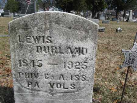 DURLAND (CW), LEWIS S. - Luzerne County, Pennsylvania   LEWIS S. DURLAND (CW) - Pennsylvania Gravestone Photos