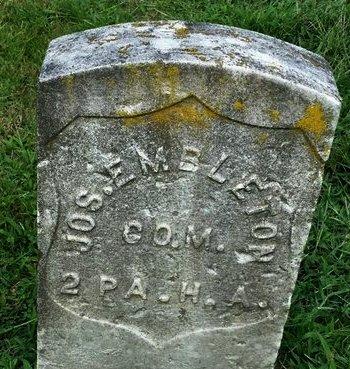 EMBLETON (CW), JOSEPH - Luzerne County, Pennsylvania | JOSEPH EMBLETON (CW) - Pennsylvania Gravestone Photos