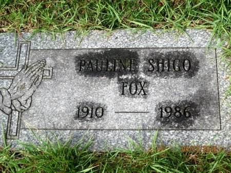 FOX, PAULINE - Luzerne County, Pennsylvania | PAULINE FOX - Pennsylvania Gravestone Photos