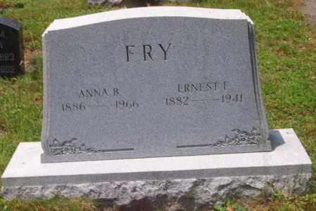 FRY, ERNEST F. - Luzerne County, Pennsylvania | ERNEST F. FRY - Pennsylvania Gravestone Photos