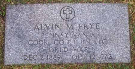 FRYE (WW I), ALVIN M. - Luzerne County, Pennsylvania | ALVIN M. FRYE (WW I) - Pennsylvania Gravestone Photos