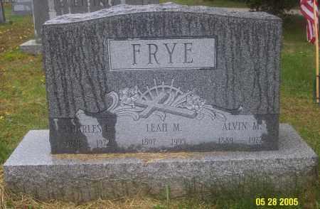 FRYE, ALVIN M. - Luzerne County, Pennsylvania | ALVIN M. FRYE - Pennsylvania Gravestone Photos