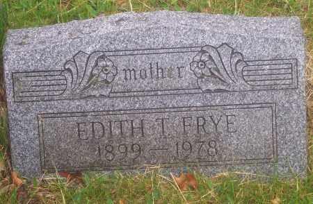 FRYE, EDITH T. - Luzerne County, Pennsylvania   EDITH T. FRYE - Pennsylvania Gravestone Photos