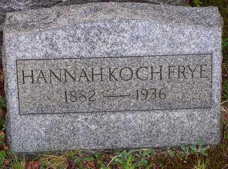 FRYE, HANNAH - Luzerne County, Pennsylvania   HANNAH FRYE - Pennsylvania Gravestone Photos